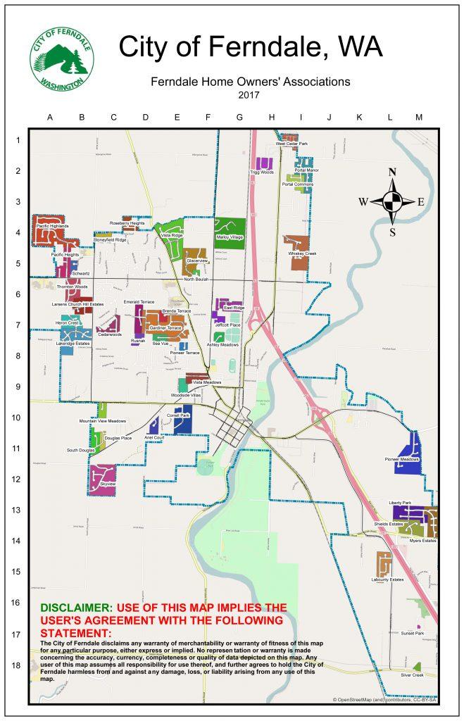 Ferndale Washington Map.Homeowners Associations Hoas Of Ferndale City Of Ferndale