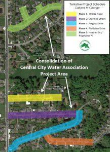 CCWA Tentative Project Schedule Map