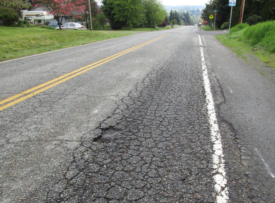 Alligatored roadway and failing subgrade
